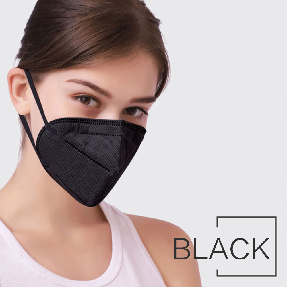 1PC Disposable kn95 Face Mouth Mask For Adults Anti-Dust Anti Virus Bacteria Black Face Mouth Mask Dropship TSLM1 4