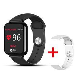 B57 스마트 시계 방수 스포츠 아이폰 전화 smartwatch 심장 박동 모니터 혈압 기능 여성 남성 키즈