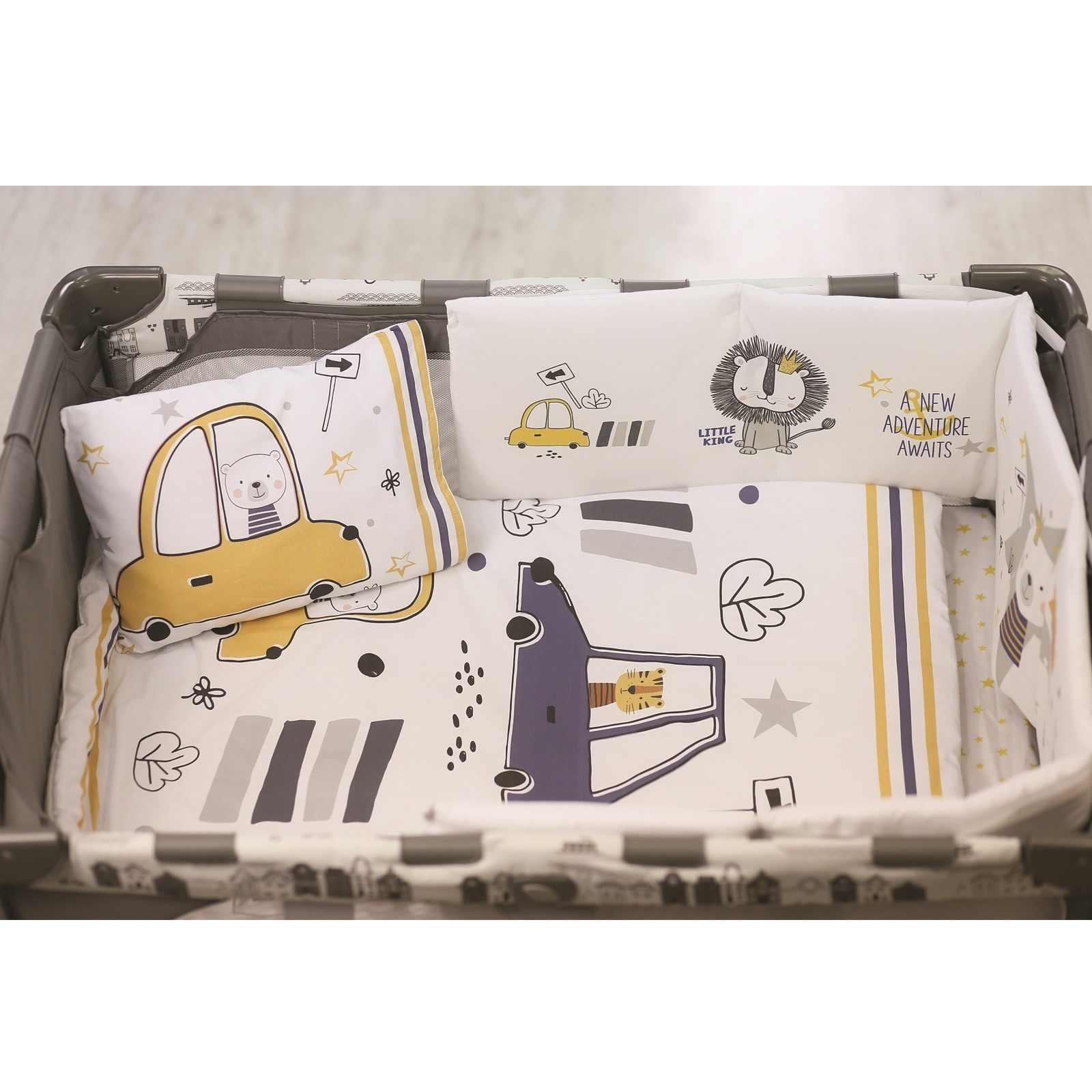 Ebebek apomena coche de viaje cuna cama dormir cubierta 5 uds conjunto