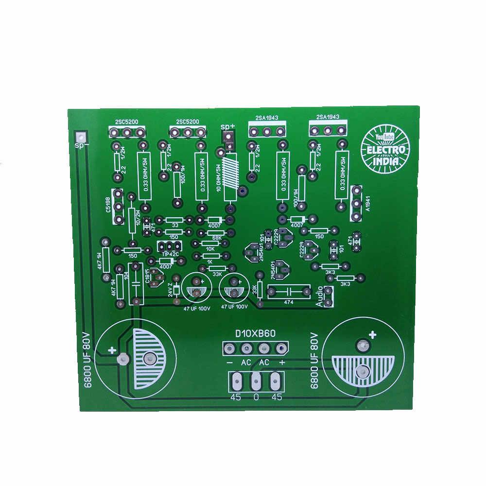 200 ואט מונו אודיו מגבר DIY PCB לוח 2SC5200