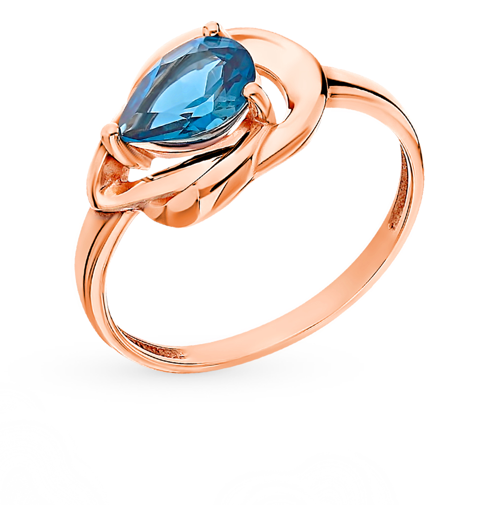 Gold Ring With Topaz SUNLIGHT Test 585