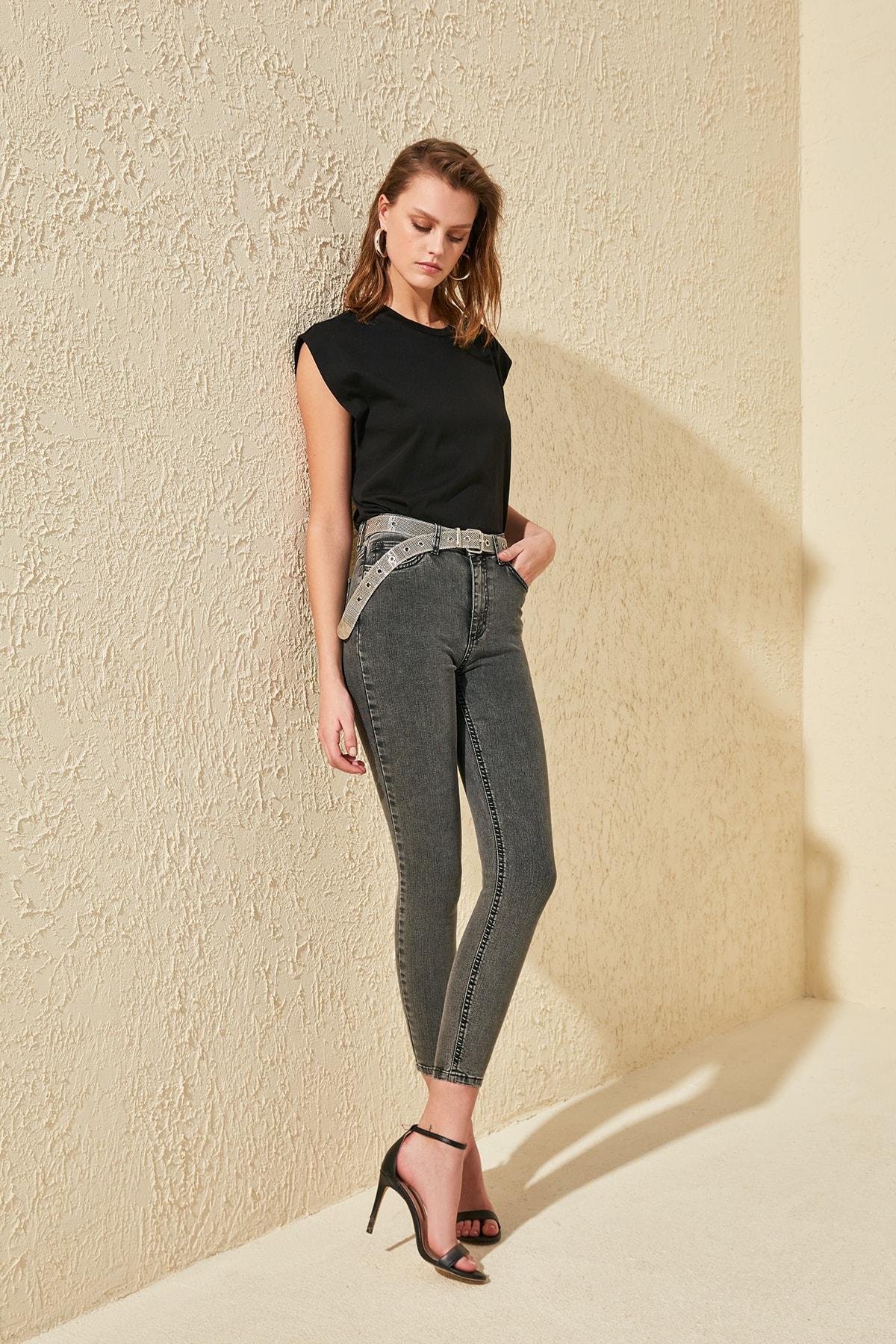 Trendyol High Waist Skinny Jeans TWOSS20JE0214