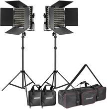 Neewer LED Video Licht und Stand Beleuchtung Kit für Foto Studio Video Fotografie, Metall Rahmen, 660 LED Perlen, 3200-5600K,CRI 96 +