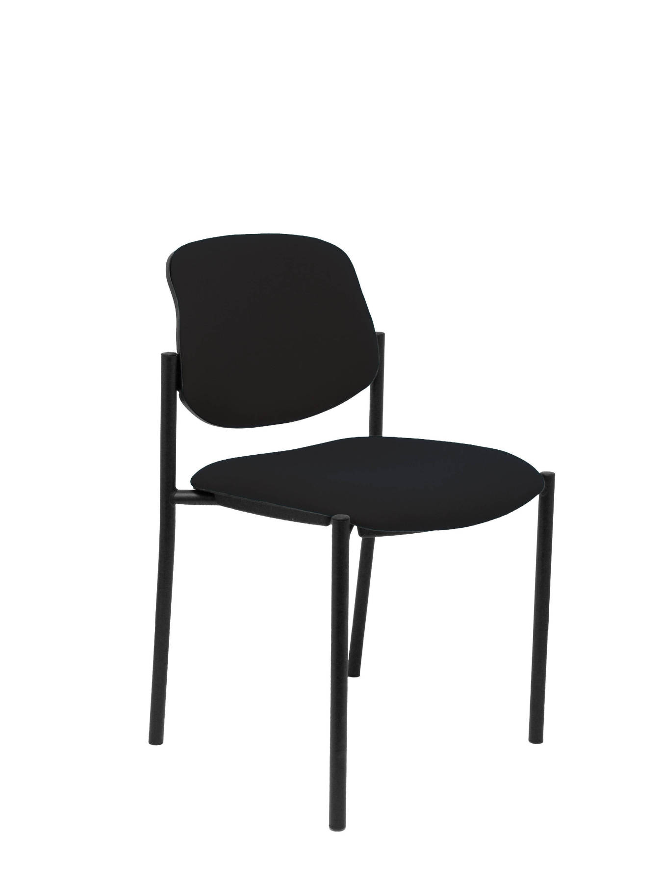 Visitor Chair 4's Topsy and estructrua Negro up seat and backstop upholstered in BALI tissue color black TAPHOLE AND CRES|Living Room Chairs| |  - title=