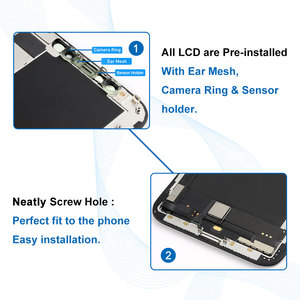 Image 5 - עבור iPhone X XR XS OEM LCD מגע מסך גמיש OLED סופר AMOLED תצוגת Digitizer עצרת שחור & לבן