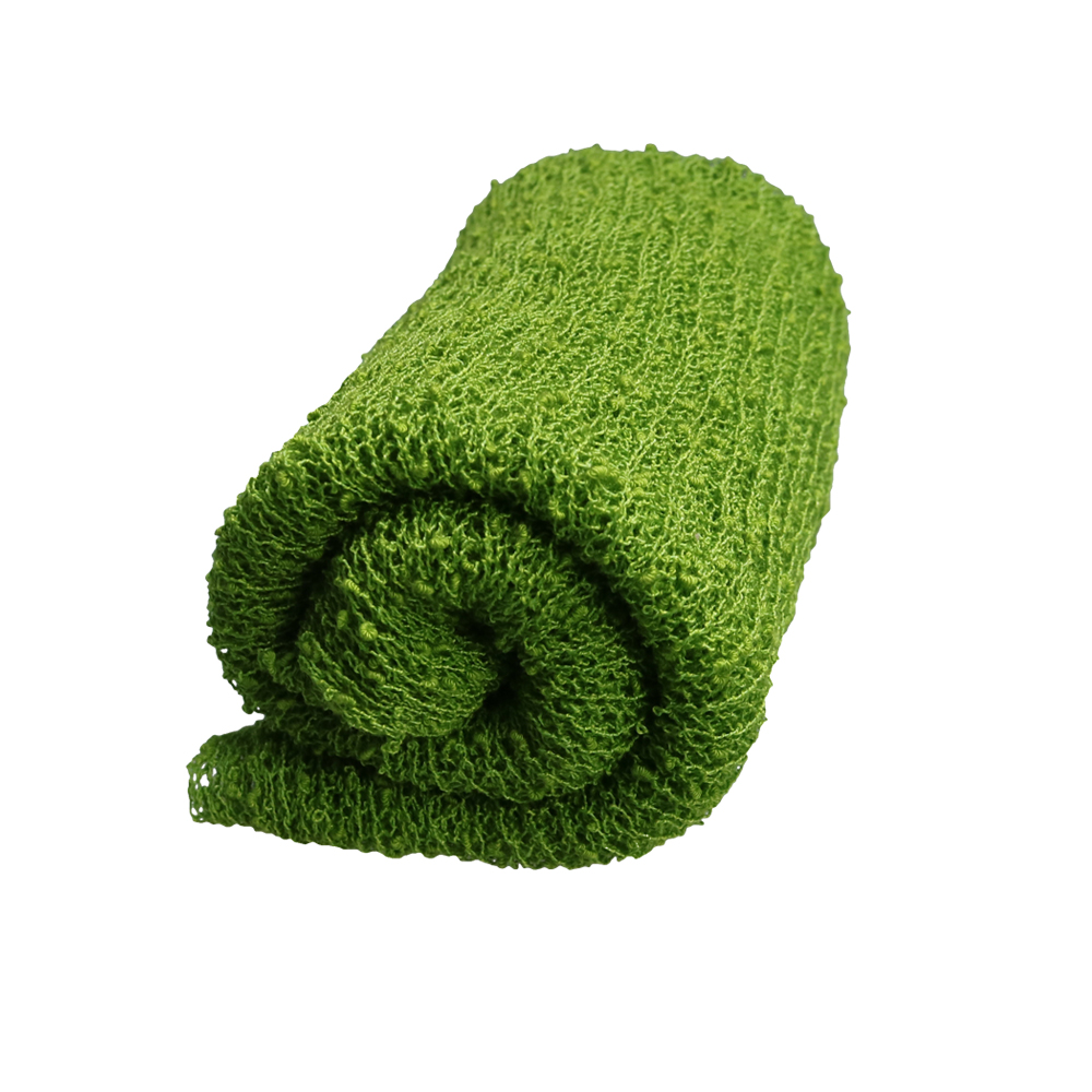 Don&Judy Spring Green Leaves Blanket with Matched Stretch Wrap and Headband Newborn Photo Shoot Soft Photography Accessories
