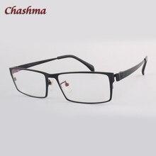 Panowie szeroki twarz czysty tytan okulary na receptę rama okulary optyczne pełne obramowanie Gafas okulary męskie okulary