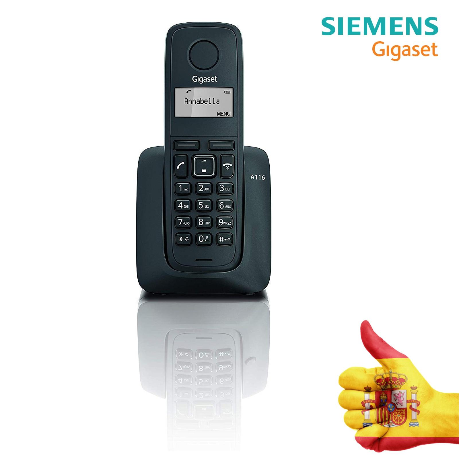 WIRELESS PHONE SIEMEN S-GIGASET A116 BLACK Agenda 50 Contacts