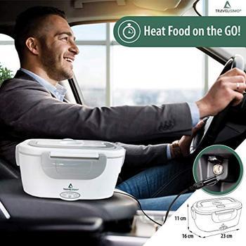 Fiambrera Electrica 2 en 1 para Coche/Camión y Trabajo 220V & 12V 40W - Tartera Termo Comida Caliente Acero Inoxidable 1.5L 2