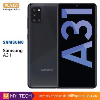Перейти на Алиэкспресс и купить Samsung Galaxy A31, android смартфон, 4 ГБ/64 ГБ, 6,4 дюймFHD + экран, аккумулятор 5000 мАч, 4 камеры, Восьмиядерный, Samsung Knox