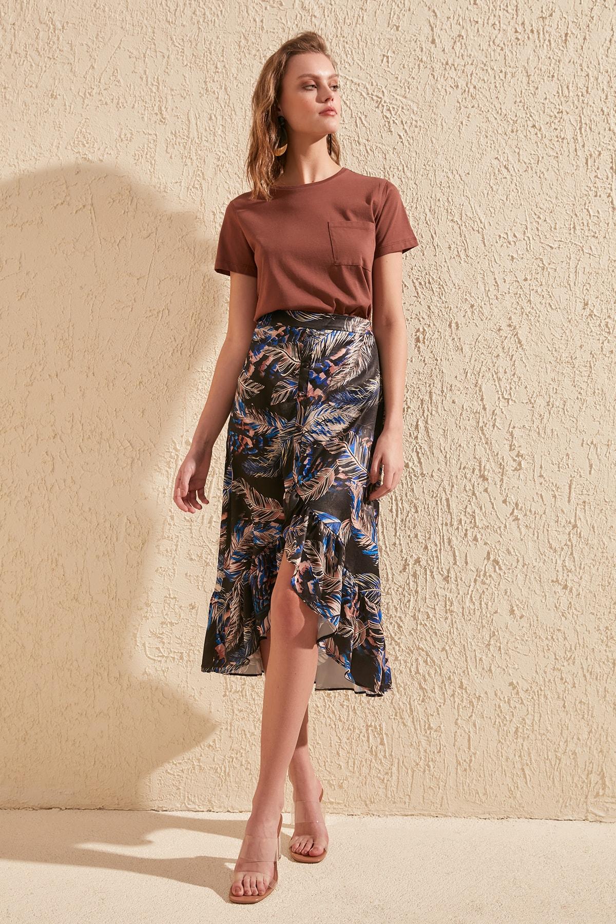 Trendyol Ruffle Detail Skirt TWOSS20ET0044