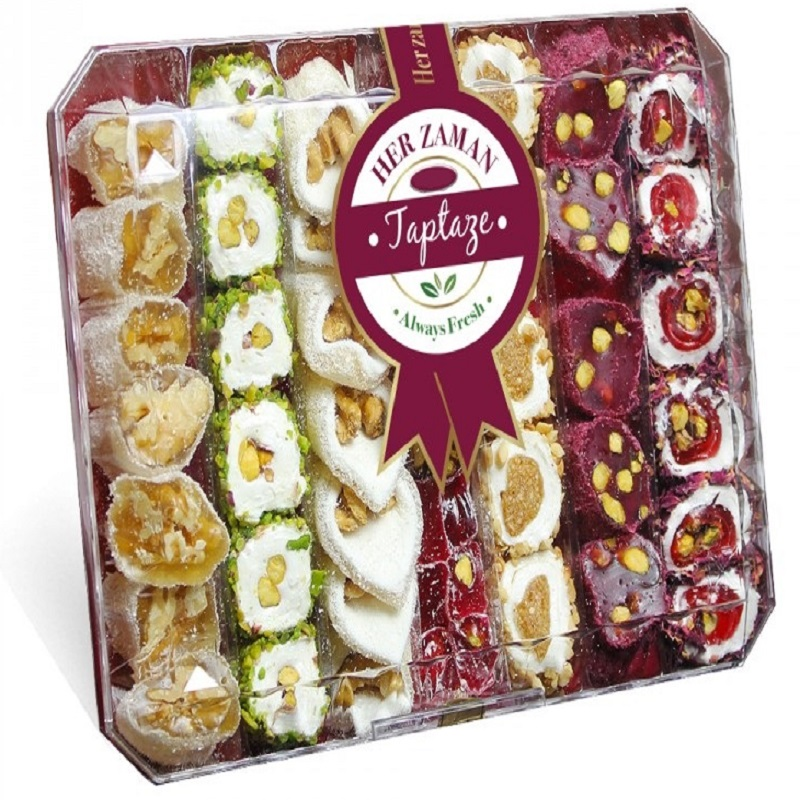 FROM TURKEY Mixed Padishah Sultan Turkish Delight  %100 ORIGINAL 600 Gr. ( 21.2 Oz ) We Send With DHL EXPRESS To The WORLDWIDE