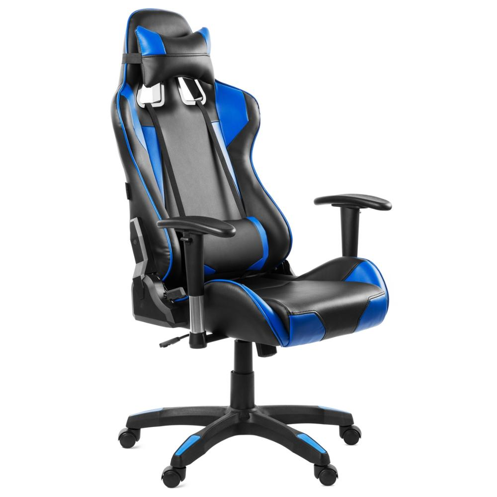 Mc Haus - Silla Oficina Gaming Sillon Despacho Escritorio Reclinable Giratoria Azul