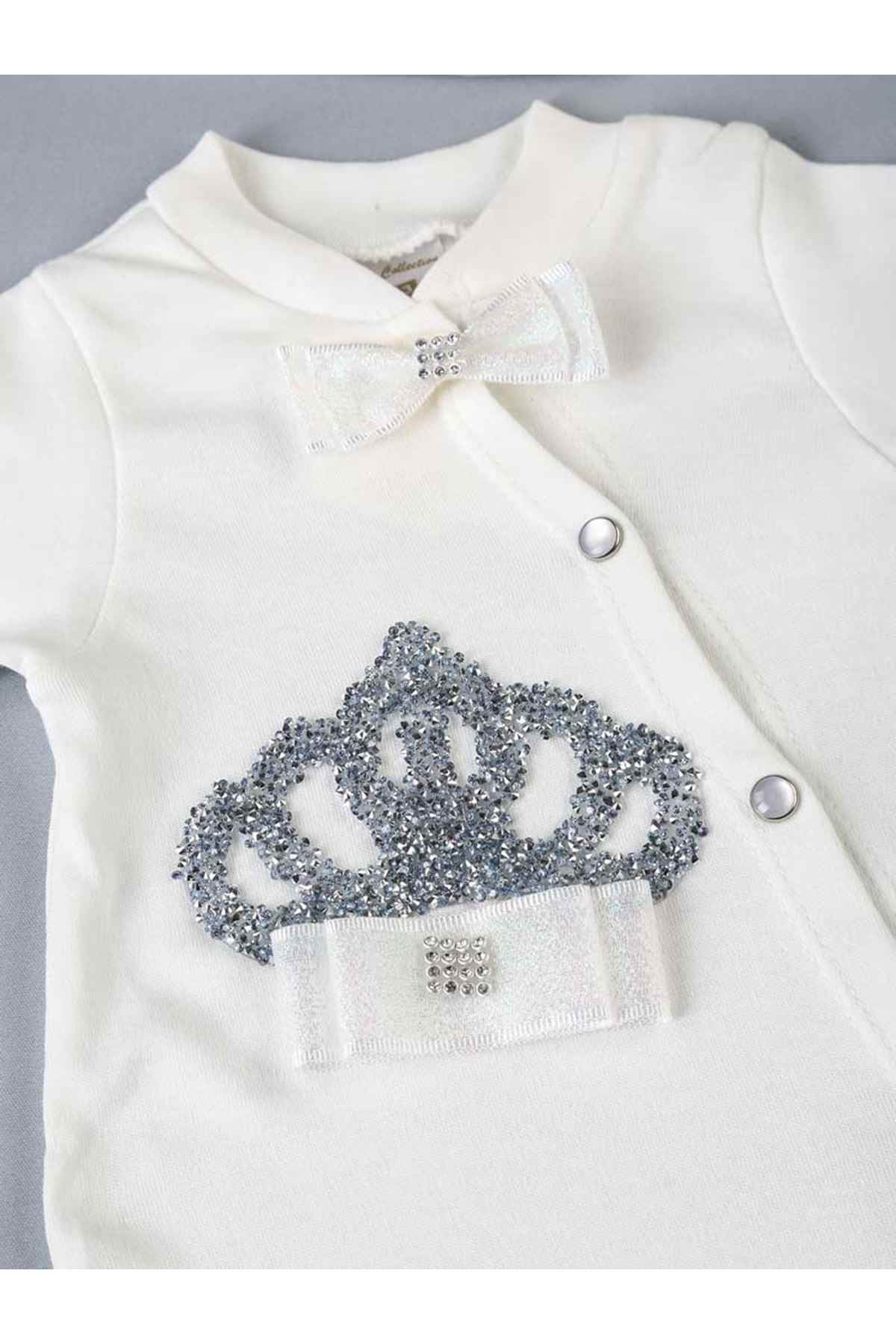 Weiße Königin Gekrönt 3 PCs Mädchen Baby Overall