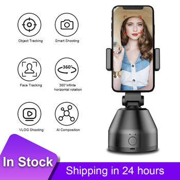Smartphone 360° Selfie Shooting Gimbal Object Auto Tracking Phone Holder 360°Selfie Stick for Vlog Video Live
