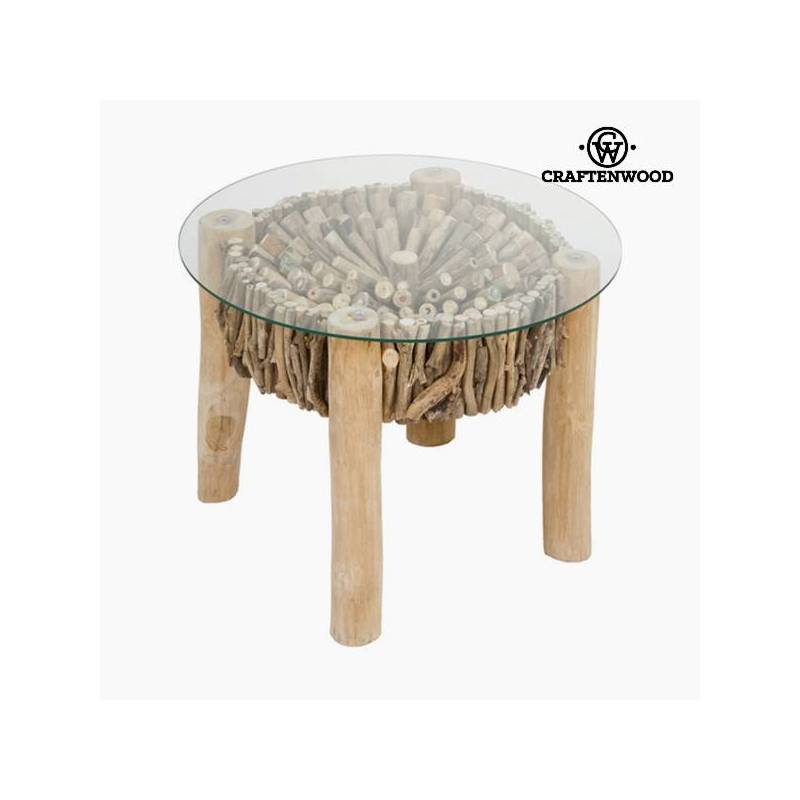 Side Table Wood Mindi Round-the Collection Autumn Craftenwood
