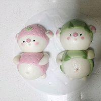 草莓猪&西瓜猪的做法图解25