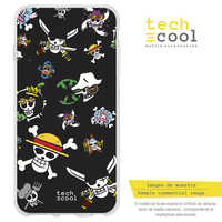 FunnyTech®Stand case Silicone for Vsmart Active 1 plus L Series One Piece Mini skulls fund