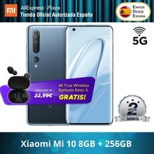 Xiaomi Mi 10 5G (256GB ROM con 8GB RAM Snapdragon™ 865 Android Nuevo Móvil) [