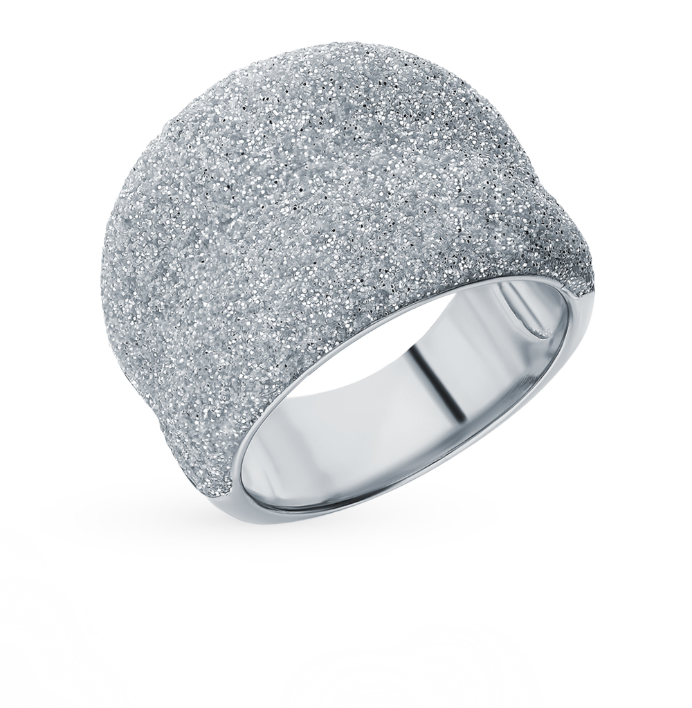 Silver Ring With Sunlight Crystals Sample 925
