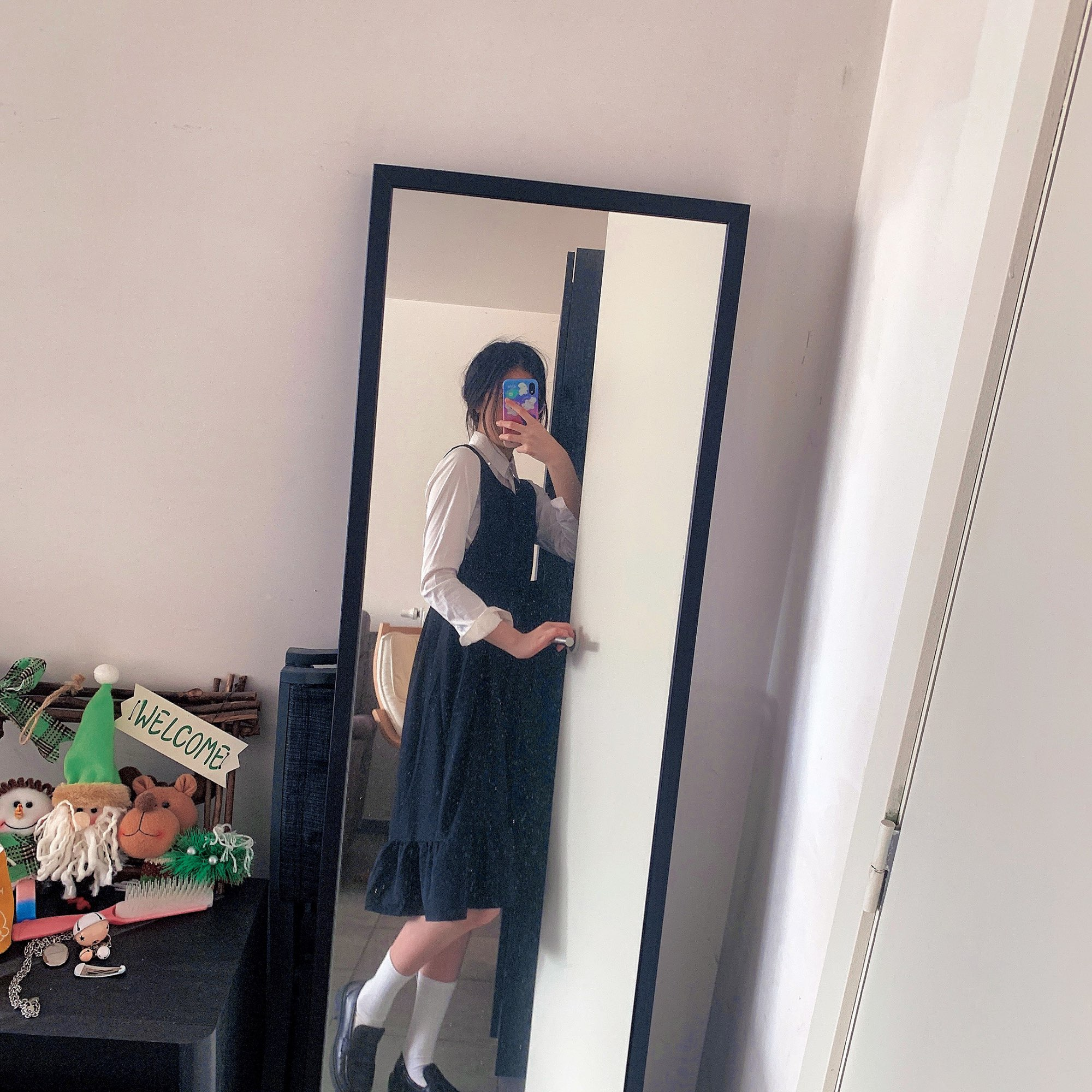 Ulzzang College Style Summer Sweet Ruffles Girls Long Dresses photo review