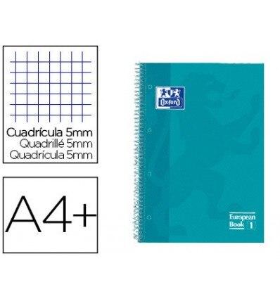 SPIRAL NOTEBOOK OXFORD EBOOK 1 TOP EXTRADURA DIN A4 + 80 H GRID 5 MM AQUA INTENSE TOUCH 5 PCs