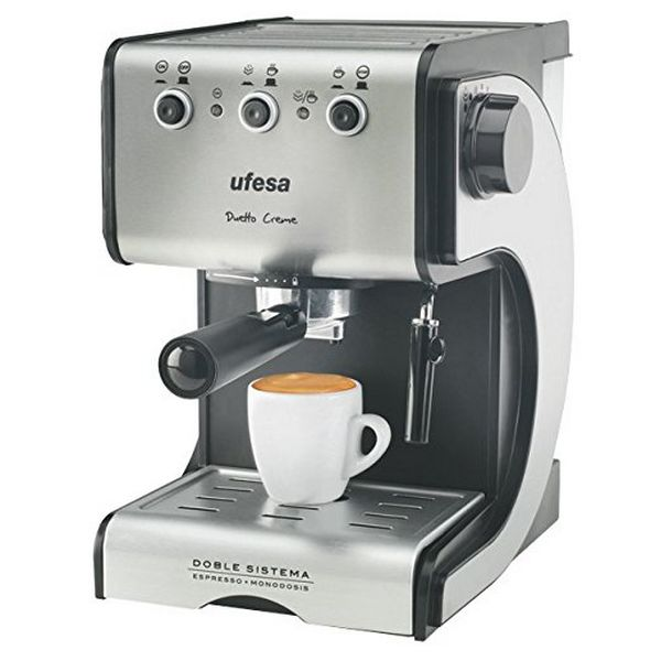 Express Manual Coffee Machine UFESA CE7141 1,5 L 15 Bar 1050W Black Silver Inox