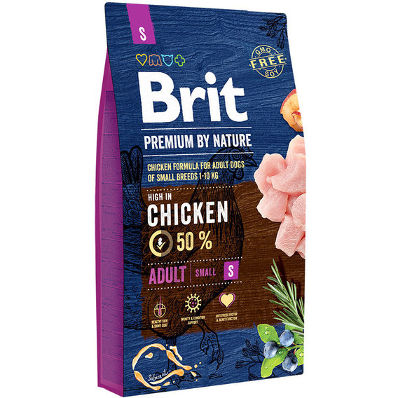 Food Brit Premium By Nature Adult S Adult Dogs Small Breeds, Chicken, 8 Kg.