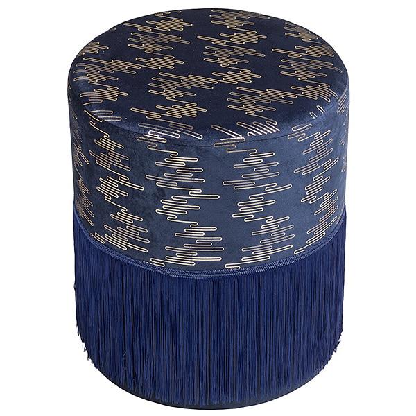 Pouffe Pine Blue (34 X 34 X 40 Cm)