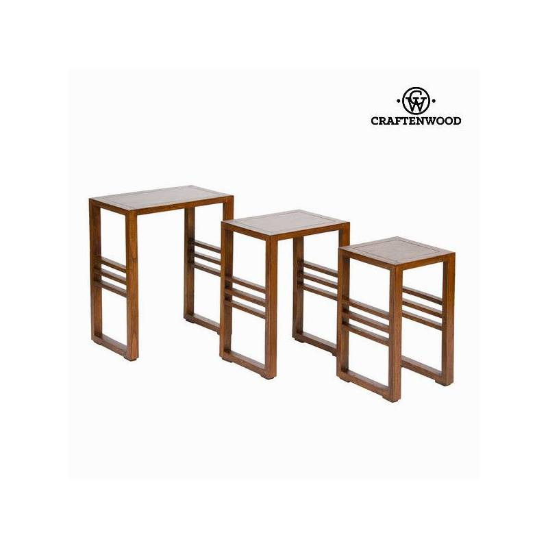 Set Of 3 Nesting Tables-Collection Serious Line By Craftenwood