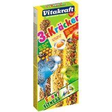 Лакомство для птиц VITAKRAFT Крекеры мед, яйцо, фрукты для попугаев(3шт.уп