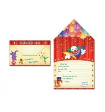 INVITATION TO MY PARTY ARGUVAL ON CIRCUS BLISTER 8 MODELS ASSORTED