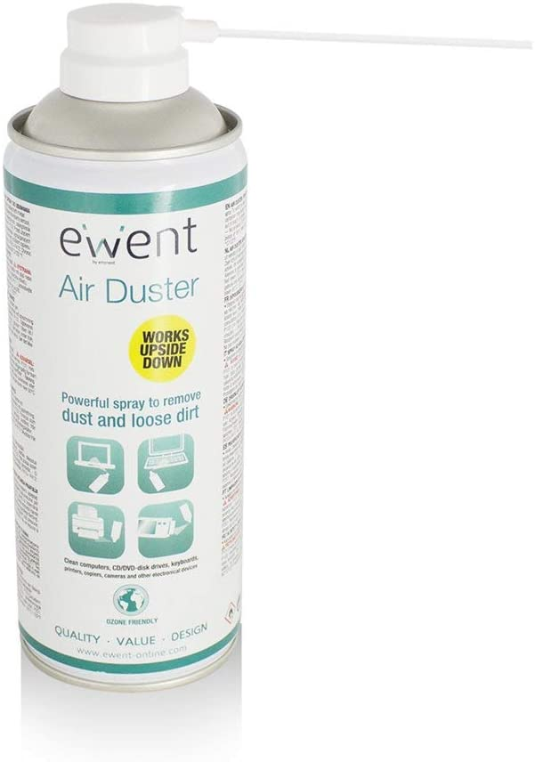 Envio 24-48hrs-Ewent EW5600 - Spray Air Compressed American Clean Dust Reversible, White Color