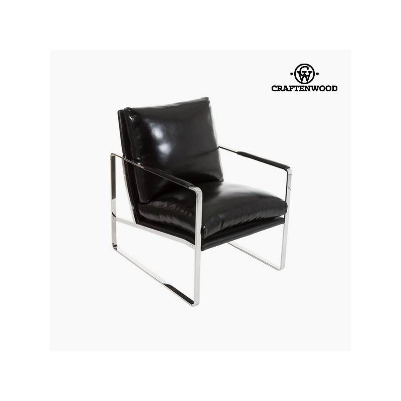 Armchair Black Leatherette (65x83x87 Cm) By Craftenwood