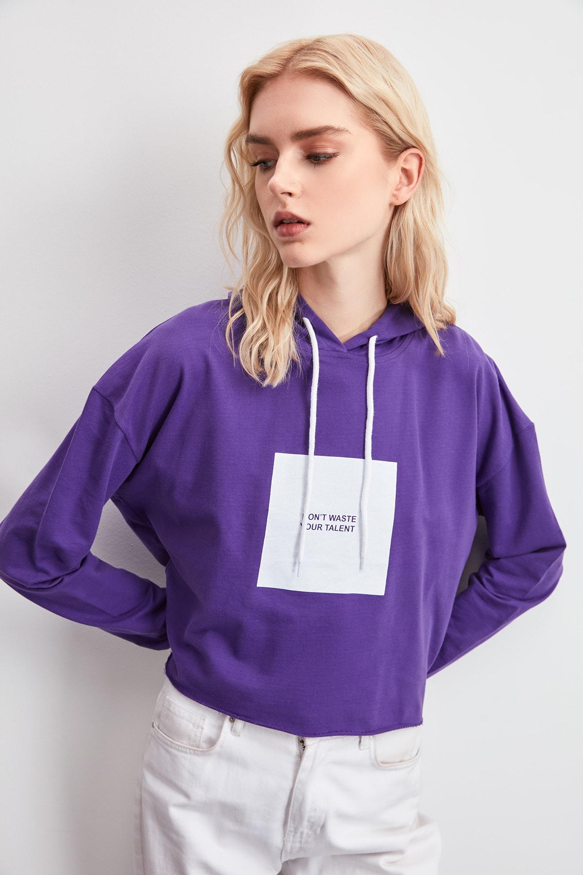 Trendyol Printed Knitted Sweatshirt TWOAW20SW0782