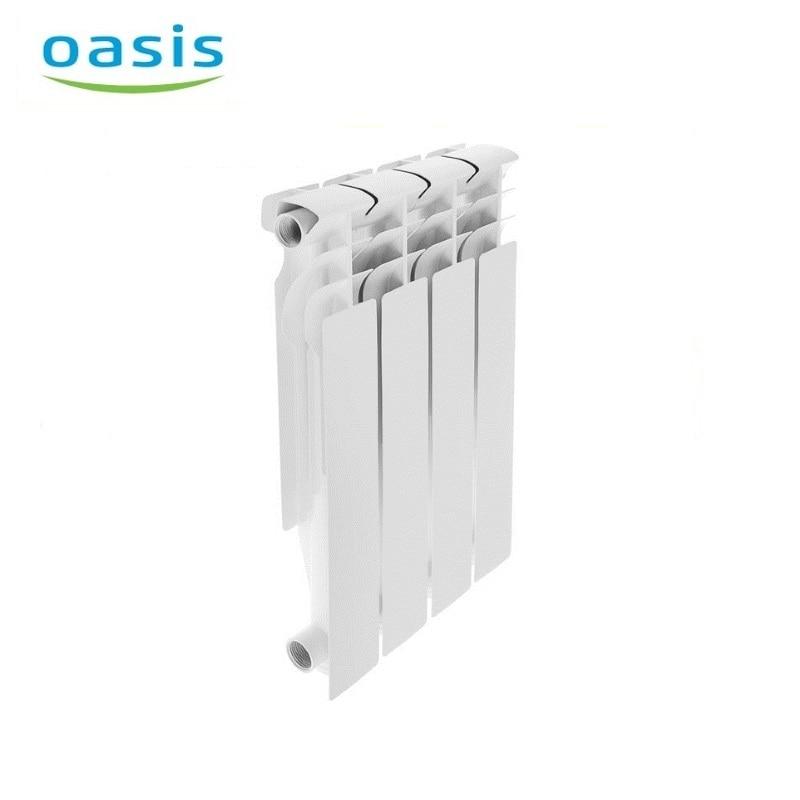 004 Radiator aluminum cast Oasis 500/80/4  air heater heating elements household radiator home energy saving 004 bimetal radiator oasis 500 80 6 electric heater air heater heating elements household radiator home energy saving