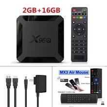 저렴한 가격 X96Q 안드로이드 10 4K 스마트 TV 박스 1080P 쿼드 코어 TV 박스 Allwinner H313 2.4G 무선 와이파이 2GB16GB 미디어 플레이어 X96Q