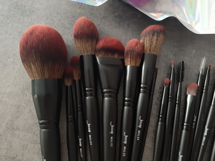 Jessup New Arrival Makeup brushes brushes Phantom Black 3-21pcs Foundation brush Powder Concealer Eyeshadow Synthetic hair reviews №2 337684