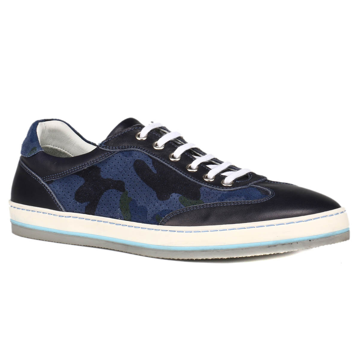 FLO 1 Navy Blue Men 'S Shoes Salvano