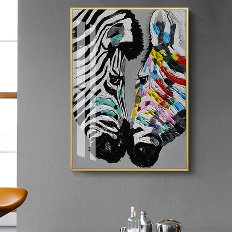 Wildlife Zebra Animal Paintings HD Print on Canvas Home Decor Wall Art Picture