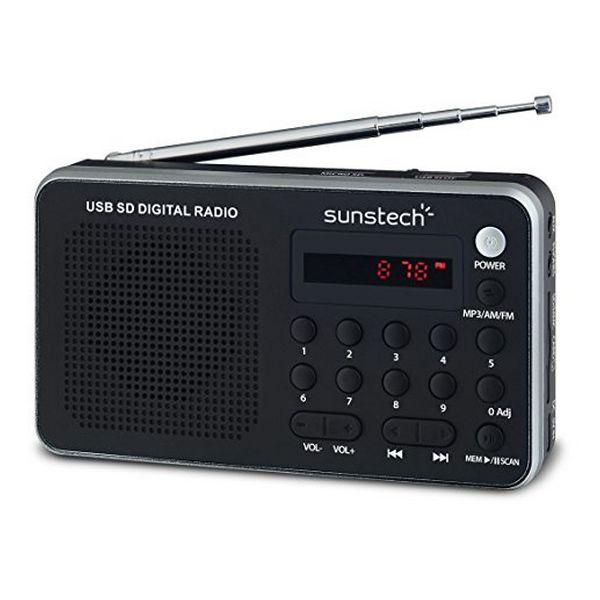 Портативное цифровое радио Sunstech RPDS32SL, серебристое