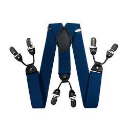 Hosenträger für hosen breite (4 cm, 6 clips, blau) 55127