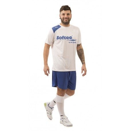 CAMISETA SOFTEE FULL BY JIM SPORTS HOMBRE - TALLA L - COLOR BLANCO Y ROYAL