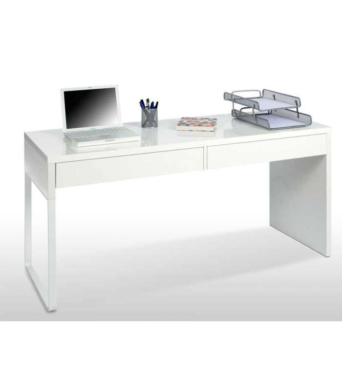 Desk Table Reversionary 2 Drawers Bianca