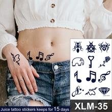 Small Tattoos Temporary-Tattoo-Stickers Hand-Arm Face Diamond Elephant Tato Waterproof