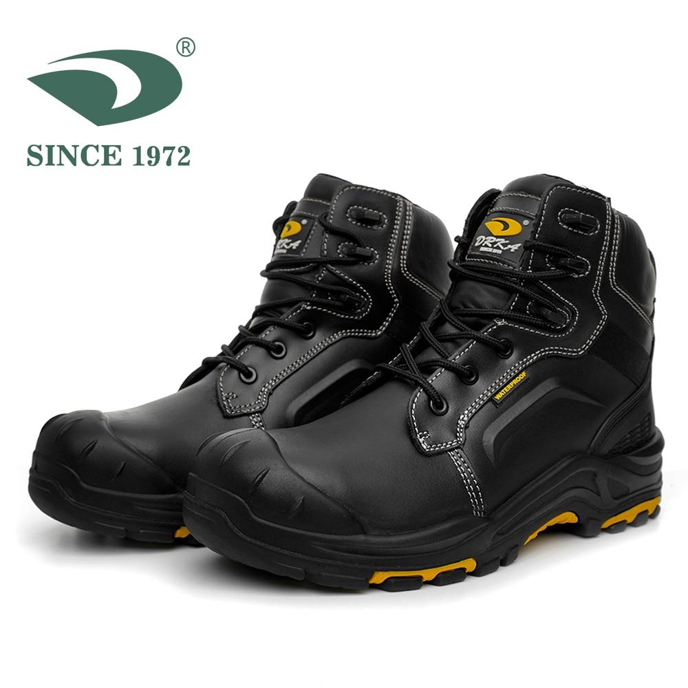 Men's Steel Toe Work Boots Waterproof Safety Shoes Men Boots Men's Winter Shoes