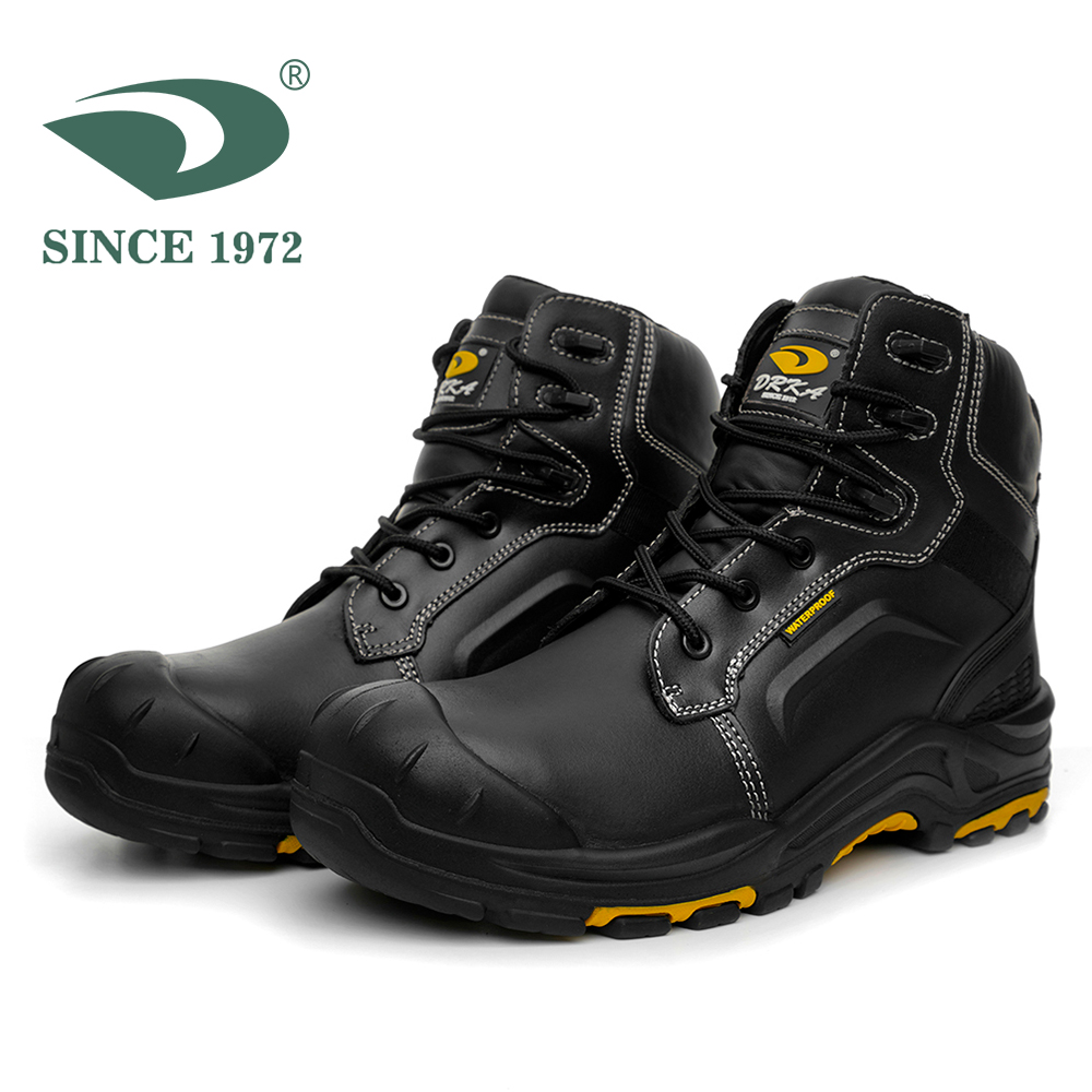 Men's Steel Toe Work Boots Waterproof Safety Shoes men boots Men's winter shoes image