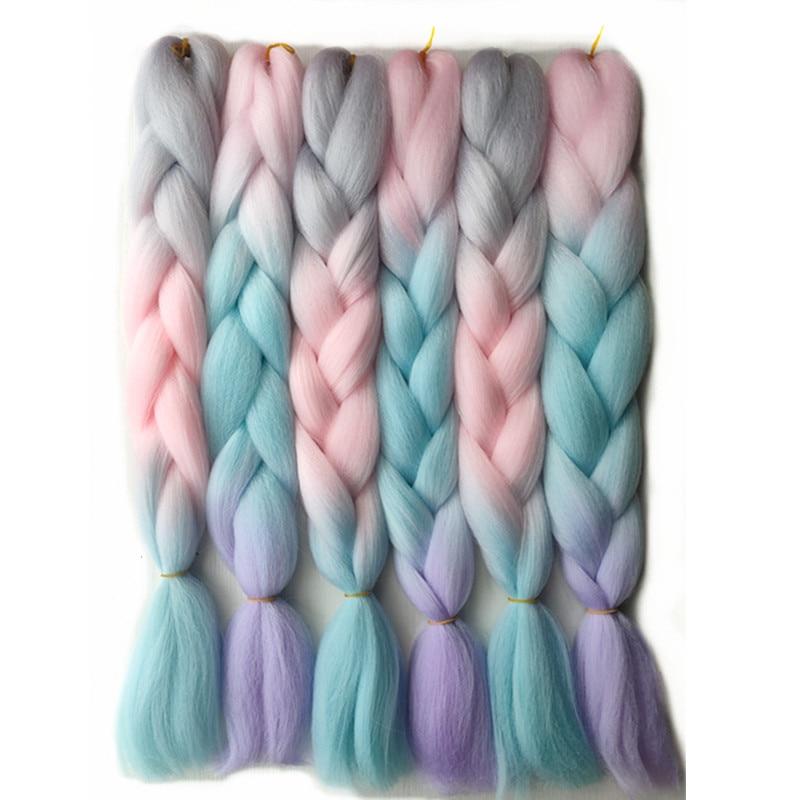 Hywappy-extensions de tresses synthétiques Jumbo, 24 pouces, tresses africaines, néon, accessoire pour boîte de torsion, tresses au Crochet, nouvelle couleur