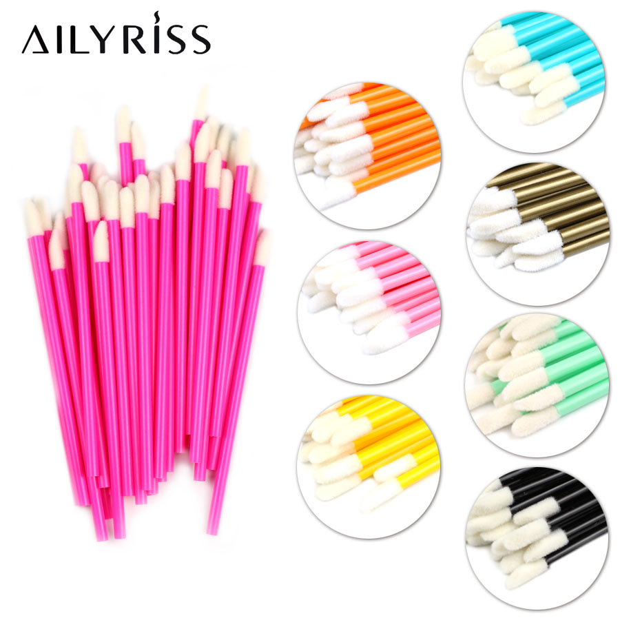 Makeup Brushes 50/100pcs Lip Brushes Soft Lip Brush Gloss Wands Applicator Lipstick Mascara Wands Brush AILYRISS