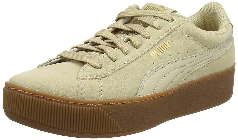 PUMA Vikky Platform Women's Sports Shoes Beige 36328714